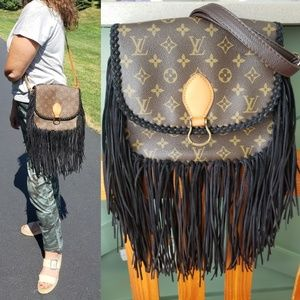 Authentic Louis Vuitton Saint cloud GM fringe